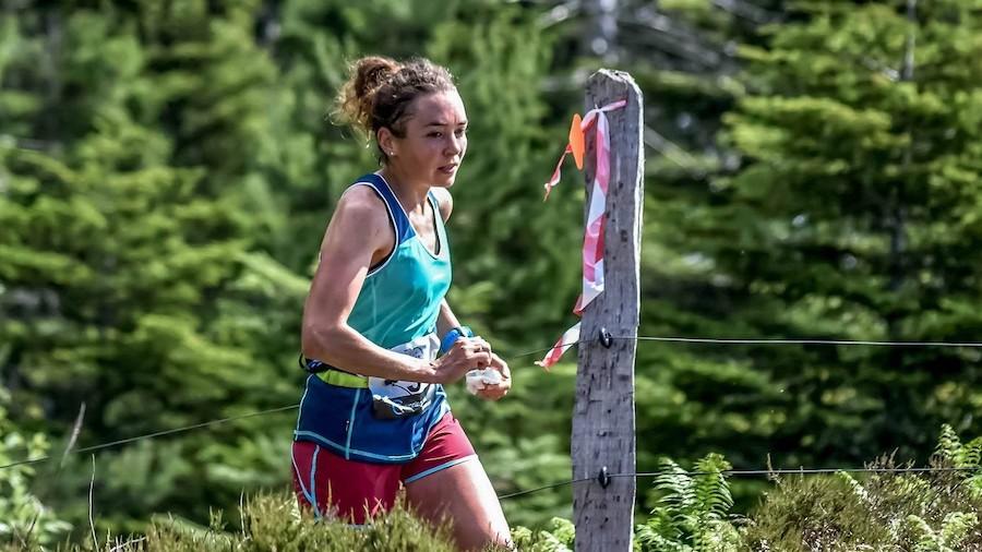Sarah Vieuille sur le Trail des Grandes Gueules 2019 en Lorraine