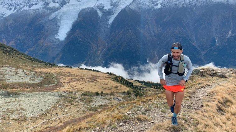 Vincent Viet à l'entraînement dans les Alpes