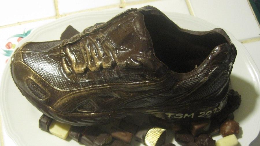 La chaussure de trail en chocolat du Fonds de Cayenne, en Seine et Marne