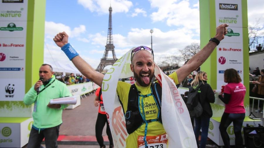Julien Jorro a remporté le 45 km de l'ÉcoTrail de Paris 2019