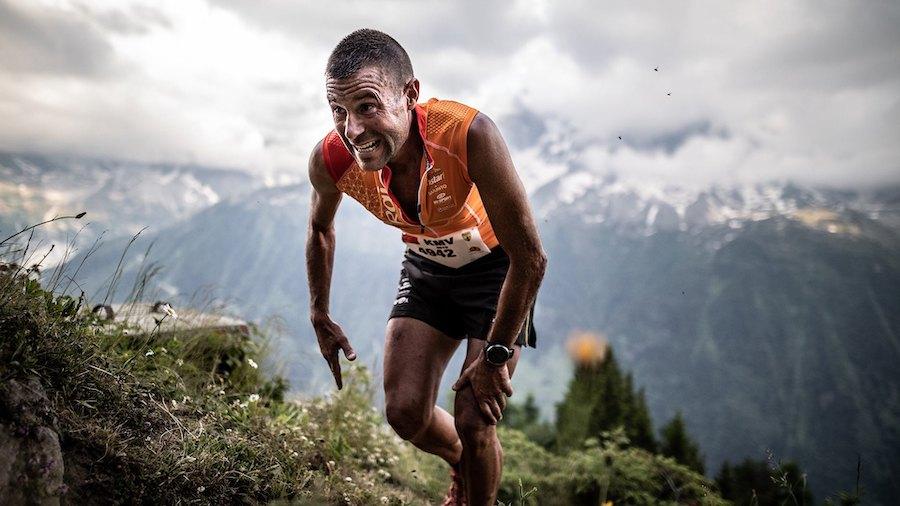 Sur le parcours du kilomètre vertical du Marathon du Mont-Blanc (3,8km, 1000mD+)