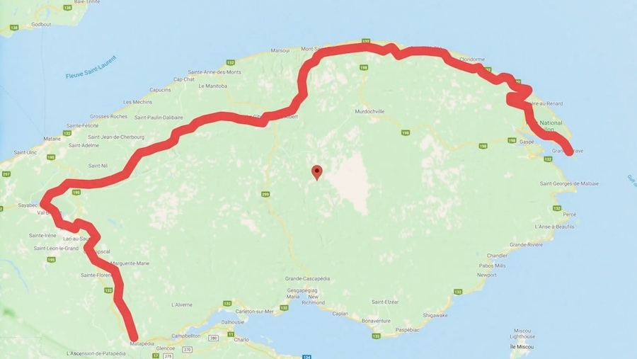 Mathieu Blanchard va traverser la Gaspésie depuis Matapédia jusqu'à Forillon