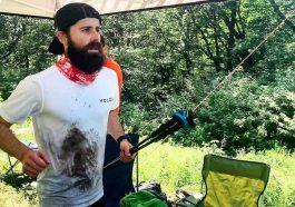 Jean-François Cauchon lors de tentative de record du monde de dénivelé en 24h au mont Sainte-Anne