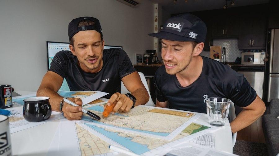 Mathieu Blanchard et Nicolas Danne ont travaillé du km 0 au km 650 à partir des cartes