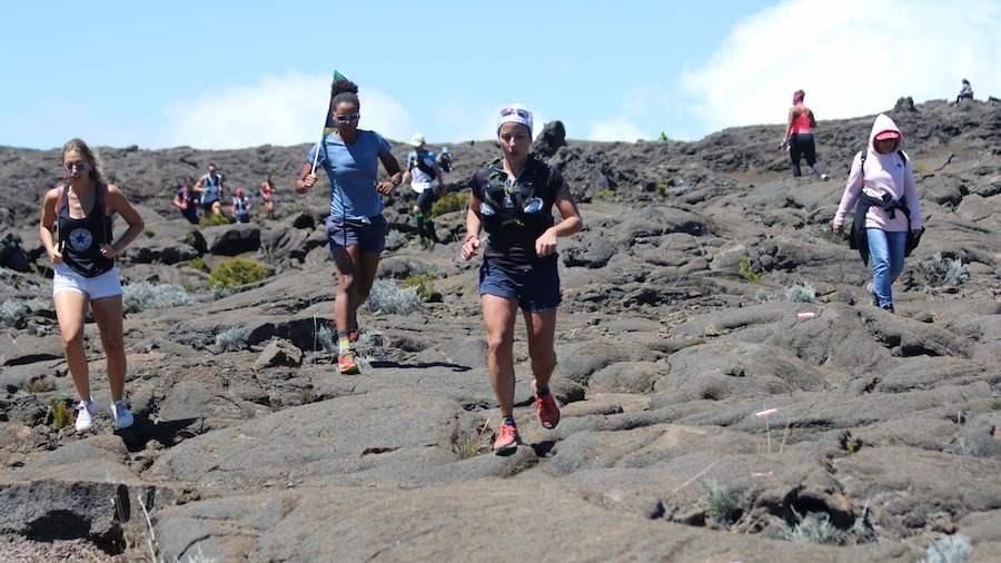Le Caldeira Trail se court sur le volcan actif de La Réunion, le Piton de la fournaise